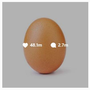 Un oeuf a obtenu un record du monde pour le plus de likes sur Instagram